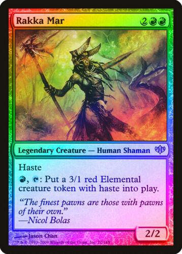 Rakka Mar FOIL Conflux HEAVILY PLD Red Rare MAGIC THE GATHERING CARD ABUGames