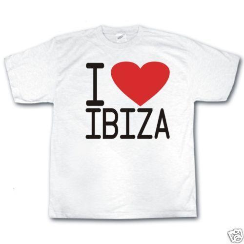 Ich liebe IBIZA Club Party DJ Musik retro cooles T-Shirt