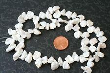 Keshi-Perlen-Strang(Nuggets, weiß,5-8 mm) Q-5136/F