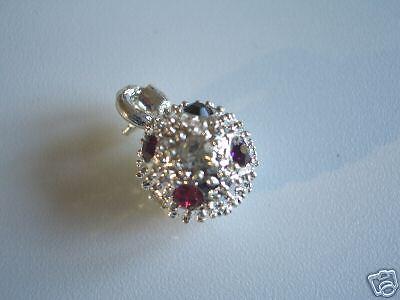 Métal pendentif sphère avec strass 10mm perles NEUF 1059