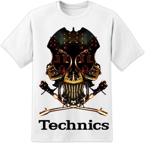 TECHNICS DJ Crâne T SHIRT 1210 PIONEER serato CDJ Rekordbox Nexus 303 808 707