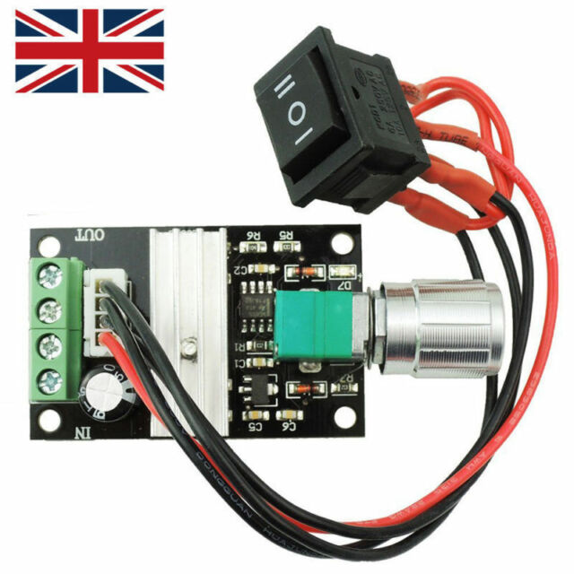 Motor Speed PWM Controller 6-24V Adjustable Voltage Regulator Control UK Seller