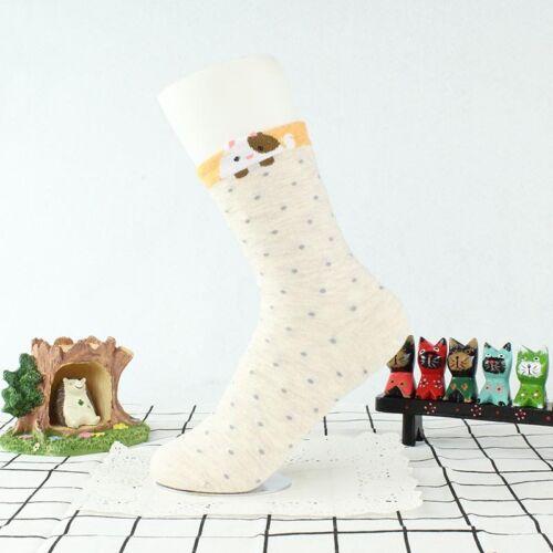 Donna Ragazze alla moda con dots dotty Calzini confortevoli CAT Animal Pattern