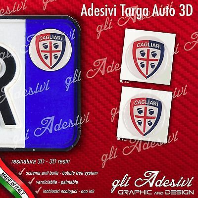 2 Adesivi Stickers bollino 3D Resinato targa Auto Moto BOLOGNA calcio