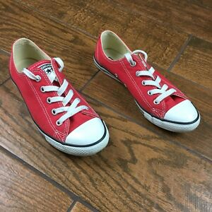 c665f49689e9 Converse All Star Chuck Taylor Red WOMENS Size 6 Classic Sneakers
