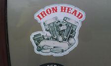 ironhead engine sportster HD harley decal sticker toolbox oil tank chopper