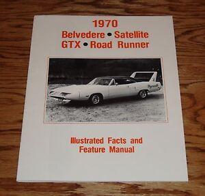 1970 Plymouth Belvedere    Satellite    GTX Road Runner Facts
