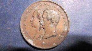 Medal Napoleon III 1855 Zinc Palais De Industrial Pavillion You Nord Wiener (323