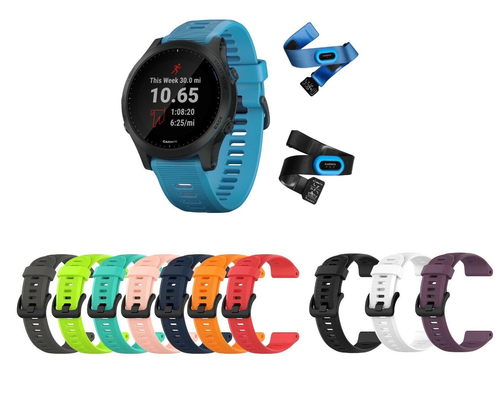 Dettagli su Garmin Forerunner 945 Pacchetto, Premium GPS CorsaTriathlon Watch W 3 Cinghie