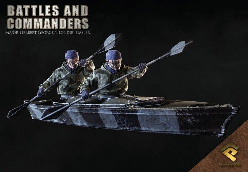 RP Models Major Blondie Hasler WW2 Unpainted 75mm 2 figure kit OOP Last few
