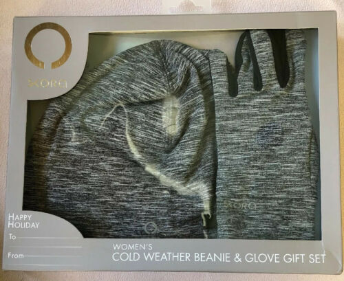 Details about  /Skora Women's Cold Weather Beanie /& Glove Set One Size Charcoal Gray New