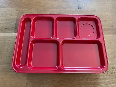 Pottery Barn Kids Divided Melamine Lunch Tray Plate Red