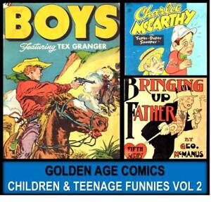 Golden-Age-TEENAGE-LAUGH-FUNNY-COMIC-DELL-Book-DVD-2-Henry-Aldrich-Howdy-Doody