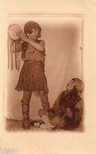 BJ229 Carte Photo vintage card RPPC Enfant déguisement costume danse fille