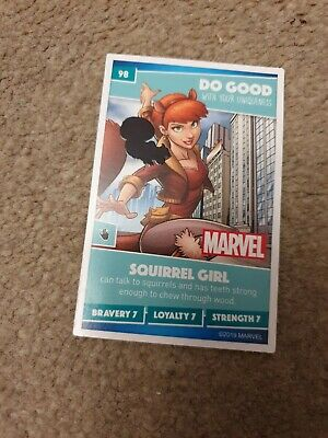 Number 98 Squirrel Girl Sainsburys Disney Heroes 2019 Collector Card