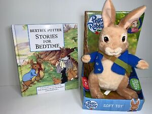 2013-World-Of-Beatrix-Potter-9-5-034-Peter-Rabbit-Soft-Plush-Toy-amp-Book-Set-Bundle