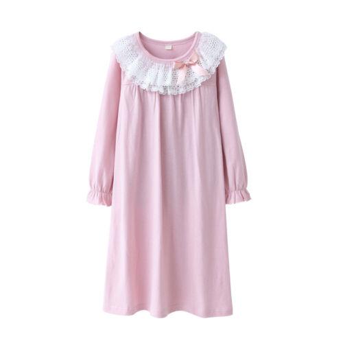 Girls//Kids Pyjamas Long sleeve Nightwear Cotton Night Dress //Ladies  Nightwear/&
