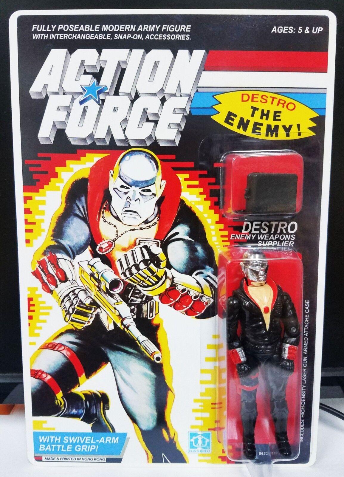 G.I. Joe Fuerza de acción personalizada de reproducción Reino Unido Cobra Destro MOC.