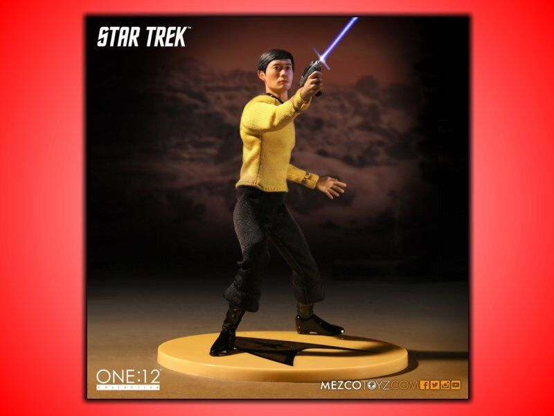 LIEUTENANT SULU STAR TREK ONE:12 COLLECTION ACTION FIGURE 17 CM NUOVA