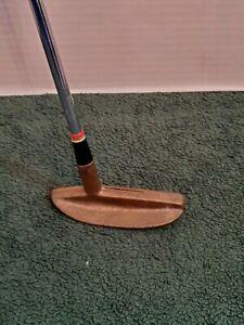 Blade Putter Copper Right Handed Steel Shaft Stroke Saver Grip