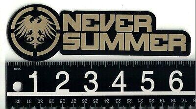 NEVER SUMMER COLORADO STICKER Never Summer 2 in Round Snowboard Skate Decal
