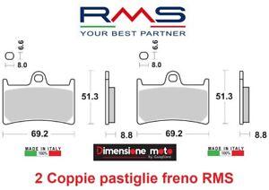 1060-2-Coppie-Pastiglie-Freno-Anteriori-RMS-per-YAMAHA-MT-07-700-dal-2014