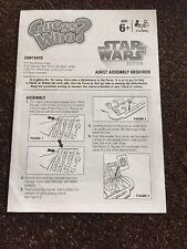 Star Wars Guess reglas de Repuesto instrucciones de reemplazo Y157