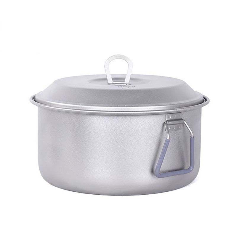 Nouveau KP6018 Camping Randonnée ustensiles feu de camp cuisine 2.5 L Titane Pot Pan 350 g
