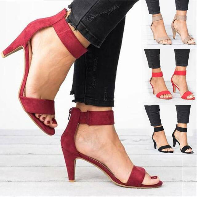 NEW LADIES DOLCIS WHITE PINK HIGH HEEL ANKLE STRAP PEEP TOE WOMENS SANDALS SHOES