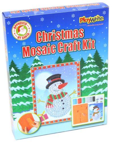Navidad Muñeco de Nieve Gema imagen mosaico Kit de artesanía de arte