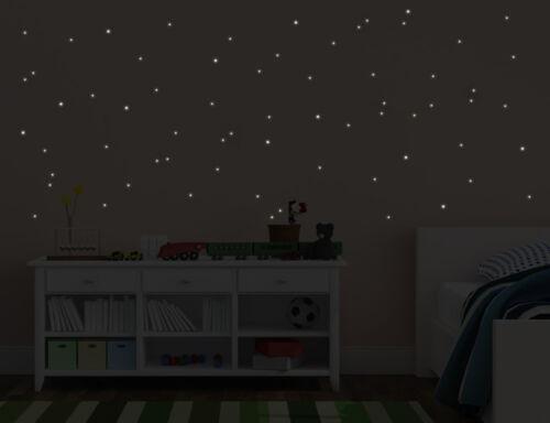 Wandtattoo 144 Stück Leuchtpunkte nachtleuchtend Zum testen Punkte bsm075