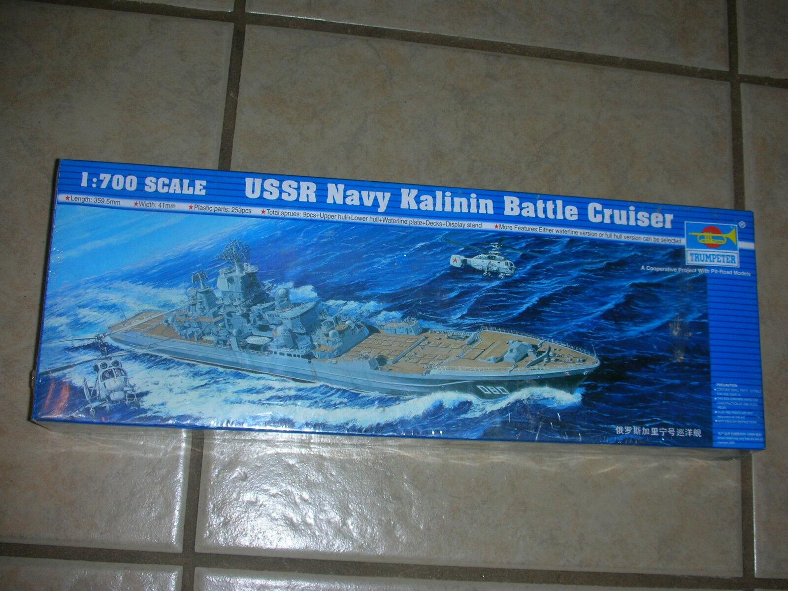 Trumpeter USSR Navy Kalinin Battle Cruiser Plastic Model Kit-2003-(B 18)