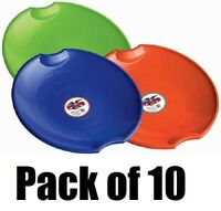 "(10) ea Paricon # 626 Assorted Color 26"" Flexible Flyer Plastic Snow Sled Disc"