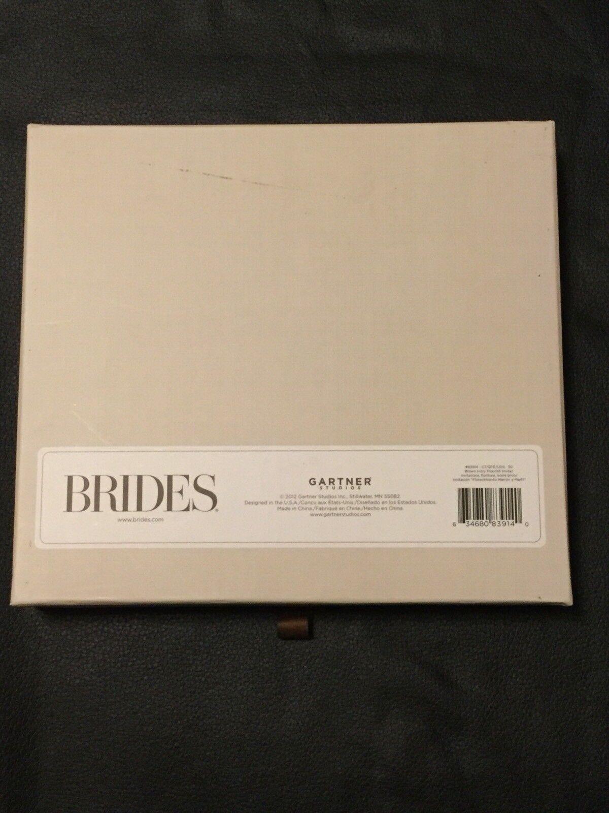 Gartner Studios Diy Brides Deluxe Wedding Invitation Kit 30 Ct Brown