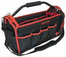 TOTE TOOL CADDY BAG HEAVY DUTY BASE CARRY CASE HOLDALL ALUMINIUM HANDLE