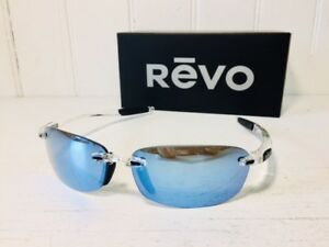 aab6be1667 REVO RE4060 09 BL DESCEND E Crystal w  Blue Water POLARIZED Lenses ...