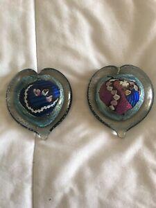 hand-blown-art-glass-paperweight-Heart-Shape-2-Pieces