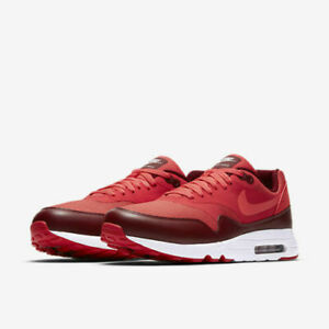 Details about NIKE Men's Air Max 1 Ultra 2.0 Essential Shoes 875679 601 Track Red sz 10 11