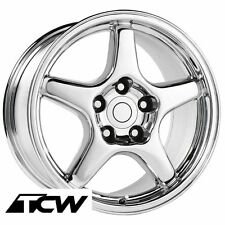 "17"" 17x9.5 inch Corvette C4 ZR1 OE Replica Style Chrome Wheels Rims fit C4 84-87"
