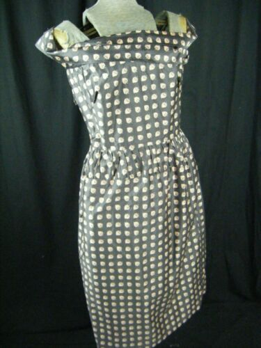 CLAIRE McCARDELL Vtg 40-50s Grey Pink Cross Off Sh
