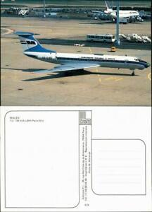 Ansichtskarte-Orly-Flugzeug-MALEV-TU-134-HA-LBH-Paris-Orly-1990