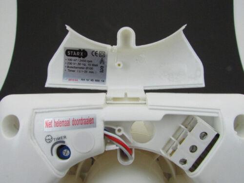 STARX Montaggio Ventola Ventilatore ø100mm d100 bagno VENTOLA VENTOLE badlüfter
