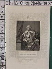 C1840 antiguos impresión ~ John Russell Duque de Bedford