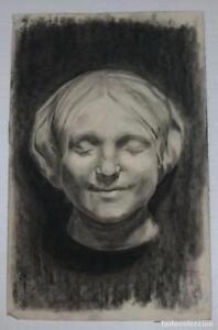 Dibujo-de-retrato-femenino-del-autor-Alberto-Duce-Vaquero-Pintado-al-carboncillo