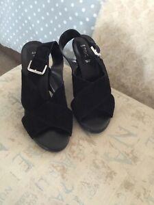 Ladies Black Sandals Next Size 5 | eBay