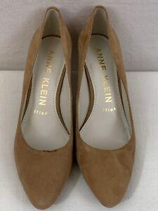 ANNE KLEIN Iflex Women's Size 7.5 Akrosalie Tan Leather Upper Pump. NWOB