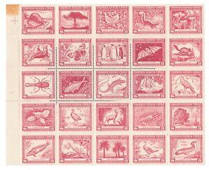 Chile-Airmail-Scott-C124-3p-Block-of-25-MNH