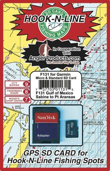 Angler Products Uploadable Fishing Hotspots for Upper TX Coast Offshore F131