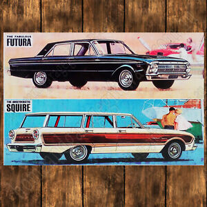 ALUMINIUM-SIGN-200MM-X-285MM-1964-XM-FORD-FUTURA-amp-COUNTRY-SQUIRE-WAGON