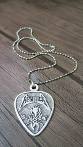 Metallica Collier 925 Plaqué Argent